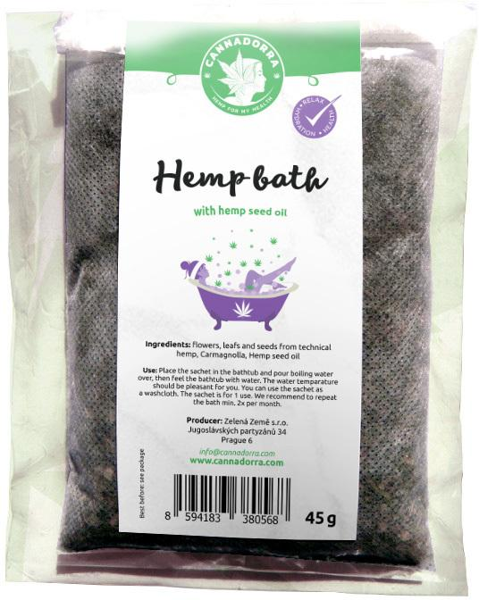 Hemp bath with hemp seeds oil by Cannadorra