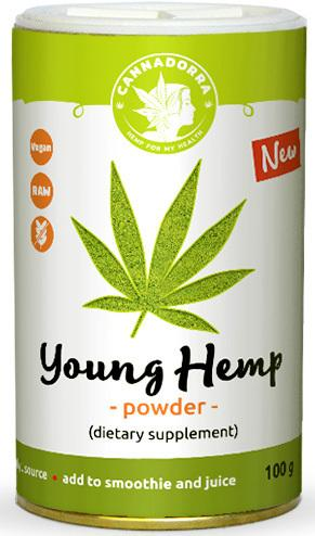 Young Hemp powder 100g by Cannadorra