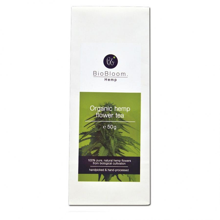 Organic CBD hemp flower tea by Biobloom 50g