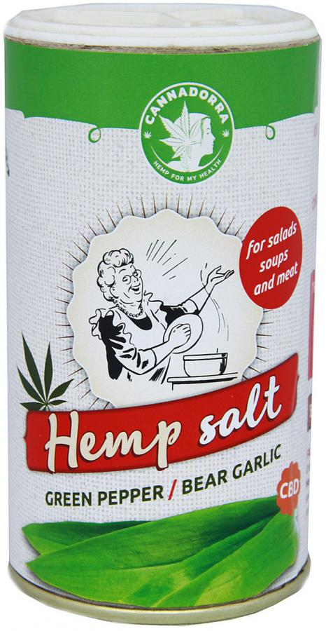 Hemp salt with green pepper and wild garlic 165g by Cannadorra