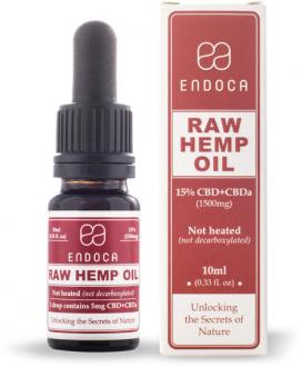 Cbd RAW Hemp Oil Drops 1500mg CBD+CBDa (Cannabidiol) (15%) by Endoca