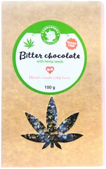 Dark Sugar-free hemp chocolate with hemp seeds 100g by Cannadorra