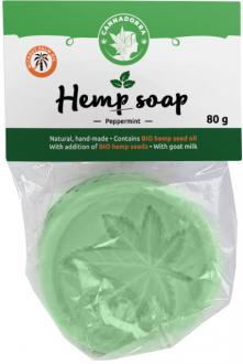 Hemp peeling soap Mint 80 g by Cannadorra