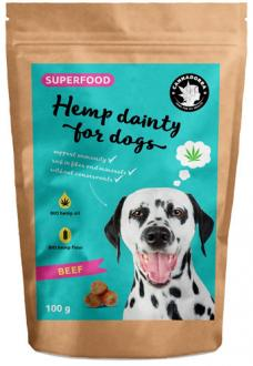 Hemp treats for dogs - beef flavor 100g