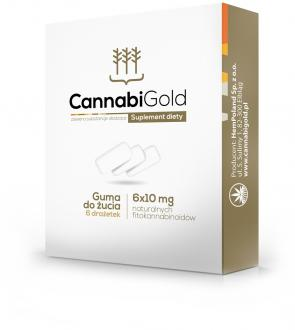 Cannabigold chewing gums with CBD 60mg