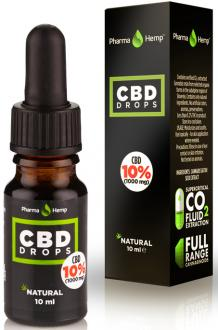 CBD OIL DROPS 10% BY PHARMAHEMP