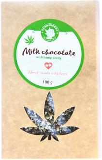 Hemp Milk chocolate with hemp seeds 100g by Cannadorra